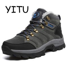 c9d7f0adbcd YITU 2018 Winter Outdoor Hiking Boots Men Waterproof Leather Hiking Shoes  Sport Sneakers Breathable Hunting Trekking
