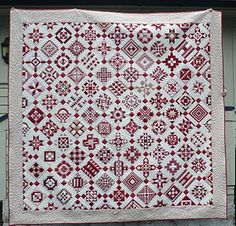 Red/White Nearly Insane quilt