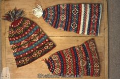 Fair Isle hats from Shetland Museum Knitwear Collection.