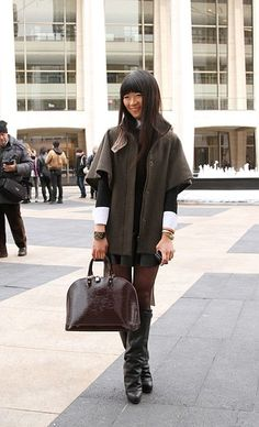 Street Style at New York Fashion Week: I really want these freaking oversized cardigans