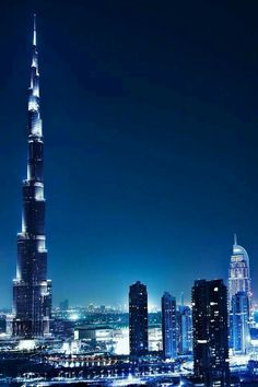 BEAUTIFUL BURJ KHALIFA BEAUTIFUL DUBAI..... Awesome View In Night Lighting...  Good  Afternoon   Friends....  Burj Khalifa, known as Burj Dubai prior is the tallest man-made structure in the world,at 829.8 m ... Dubai is the most populous city in the United Arab Emirates . It is located on the southeast coast of the Persian...