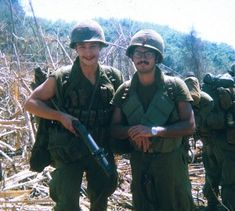 Weid (KIA 30 May '70) and Persaud, after drop into area where 19 found NVA, Feb-March '70.