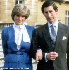 An official photograph taken at Buckingham Palace when the royal couple announced their engagement in February 1981, wearing the ring which now belongs to the Duchess of Cambridge.
