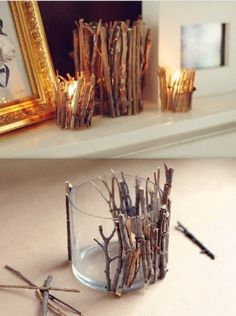 40 rustic home decor ideas you can build yourself - building decoration rustic home decor ideas that you can build yourself - build decoration the can rustic Creative & inexpensive 16 birthday ideas Diy Home Decor Rustic, Yankee Candle Jars, Mason Jar, Christmas Candle Holders, Do It Yourself Crafts, Diy Home Crafts, Wood Crafts, Diy Candles, Cool Diy Projects