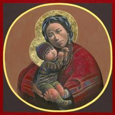 Icons & Paintings | HillStream LLC Guatemalan mother and child...