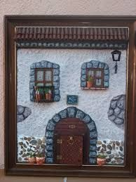 Clay Houses, Miniature Houses, Miniature Dolls, Clay Art Projects, Rock Painting Ideas Easy, Ceramic Bisque, House On The Rock, Fairy Doors, Decorative Tile