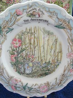 BOXED-ROYAL-DOULTON-ENGLAND-BRAMBLY-HEDGE-8INS-PLATE-THE-ADVENTURE-1ST-QUALITY