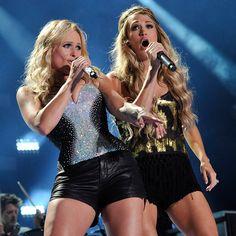 "Miranda Lambert and Carrie Underwood performing ""Somethin Bad"""