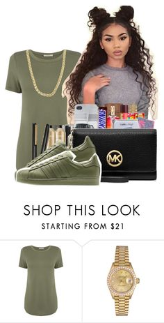 """Untitled #380"" by perfxt-royalty ❤ liked on Polyvore featuring Oasis, Rolex, adidas Originals and Sterling Essentials"