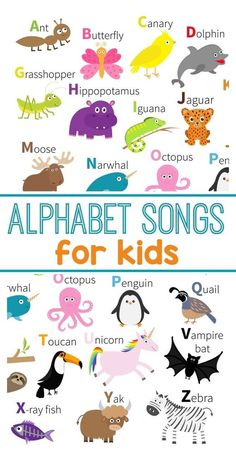 Kids Learn Their ABCs With These Fun ABC Songs Teach the alphabet with these ABC songs for kids. Perfect for learning letters for preschool.Teach the alphabet with these ABC songs for kids. Perfect for learning letters for preschool. Alphabet Song For Kids, Abc Song For Kids, Songs For Toddlers, Alphabet Songs, Abc Songs, Kids Songs, Alphabet Letters, Songs For Preschoolers, Alphabet Drawing