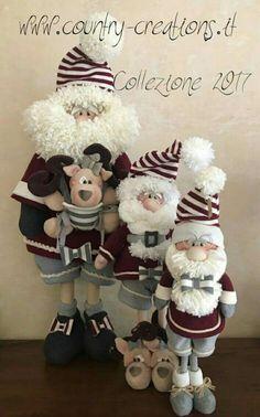 Familia santa y reno Christmas Craft Projects, Christmas Gift Decorations, Beaded Christmas Ornaments, Christmas Gnome, Christmas Animals, Christmas Art, Handmade Christmas, Xmas, Diy Kaleidoscope