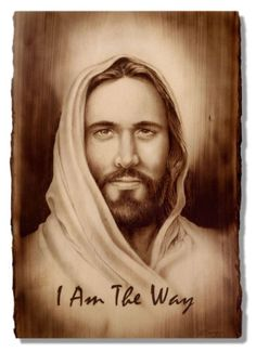 Jesus, I Am The Way, Wood Burning by Dennis Franzen Wood Burning Tips, Wood Burning Crafts, Wood Burning Patterns, Jesus Drawings, Pencil Drawings, Wood Burning Stencils, Pyrography Patterns, Jesus Pictures, Art Pictures