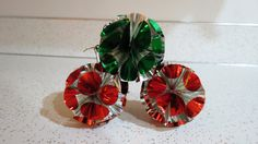 Set of Three Iridescent Silver Atomic Vintage Mid Century Christmas Ornaments Japan by AdoredAnew on Etsy