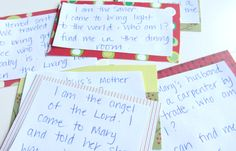 Clues for Nativity Game  Jesus : I am the Son of God. I came to bring light into the world. Who am I? Find me in the dining room.