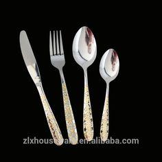 Durable top selling mirror polish stainless steel golden plated cutlery Stainless Steel Cutlery, Plating, Polish, Mirror, Tableware, Top, Vitreous Enamel, Dinnerware, Mirrors