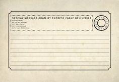 free printable vintage telegram for journaling card