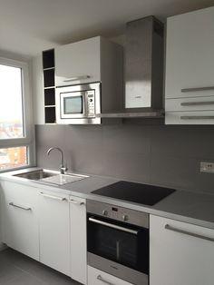 50 RR Kitchen. Units : IKEA, Sink : FRANKE Ikea, London Property, Kitchen Cabinets, Kitchen Units, Home Tv, Interior Design Kitchen, New Kitchen, Sink, Loft Ideas