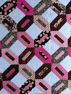 Pink & Brown quilt