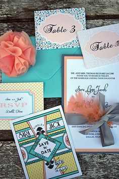 Turquoise and Coral, gray accents