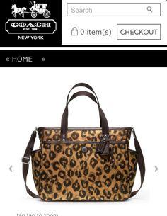 Omg they made a leopard coach diaper bag?!? I am soooooo getting this!!