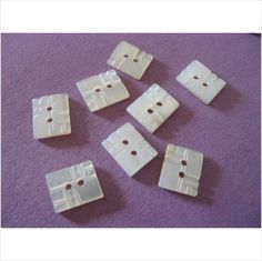 "Set of 8 Vintage deco mother of pearl buttons with detail 3/8"" on eBid United Kingdom"
