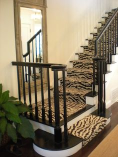 Making a staircase a focal point while still keeping it a neutral transition between spaces.
