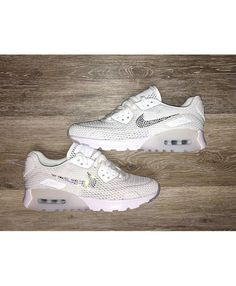sports shoes 060b3 766fd Nike Air Max 90 Ultra Breath Bling Swarovski Crystals White Trainers Sale  UK Nike Air Max