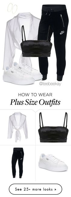 """Untitled #234"" by teebeekay on Polyvore featuring Alberta Ferretti, NIKE, Puma, Magda Butrym and plus size clothing"