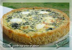 Quinoa-quiche aux orties et chèvre sans gluten