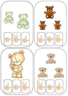 "Cartes à compter ""nounours"" Numbers Preschool, Preschool Math, Math For Kids, Science For Kids, The Very Cranky Bear, September Preschool, Teddy Bear Day, Math Notes, Bear Theme"