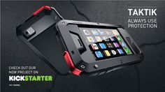 The coolest iPhone case yet. Yes, Taktik. As in tactical.    Kickstarter for the Taktik iPhone case