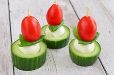 3x komkommer hapjes - Laura's Bakery