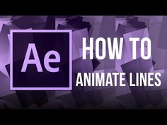 AFTER EFFECTS: How to animate a line - YouTube