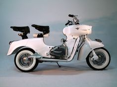 """1958 Rumi Formichino scooter (Italy) The """"Little Ant""""."""