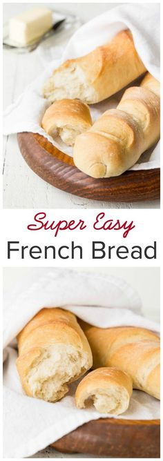 The Easiest and Fluffiest French Bread That amazing smell of freshly baked bread alone will make you want to bake this easy french bread over and over again. Especially considering how easy it is to make this bread from scratch. French Baguette Recipe, French Bread Recipes, Homemade French Bread, Bread Baking, Shinee, Baked Goods, Baking Recipes, Bakery, Yummy Food