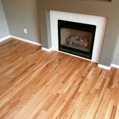 Red Oak Hardwood Floors - Living and Kitchen Hardwood Floor Stain Colors, Wood Floor Finishes, Oak Hardwood Flooring, Wood Tile Floors, Wood Paneling, Oak Floor Stains, Natural Oak Flooring, Flooring Ideas, Modern Kitchens