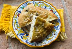 Small focaccia rounds studded with flavorful olives can be cut into wedges or used to make paninis. Biscuit Pizza, Wine Yeast, Our Daily Bread, Tasty Dishes, No Cook Meals, Italian Recipes, Good Food, Baking, Eat