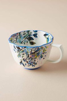In love with hand painted floral Gardenshire Mug #anthropologie #ad