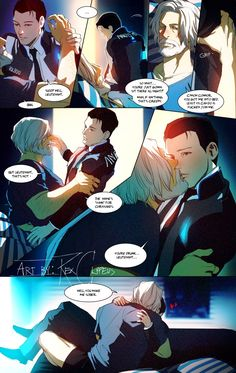 oh please don't smite me for this TDT;;; IT'S GAY, SO, THAT'S A WARNING. A WARNING!! GAY!!!HERE'S THE CHEESY CONTINUATION of drunk!Hank with some super cheesy lines, I'm done with life.#DetroitBecomeHuman#HankCon #Hannorpic.twitter.com/imbOQ3vtLR