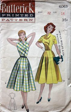 Butterick 6063 - love the buttoned front.