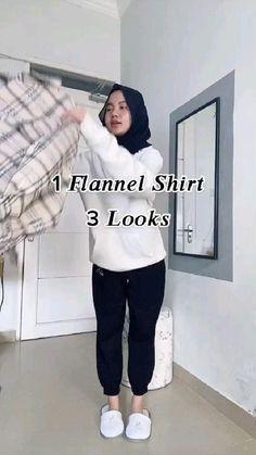 Swag Outfits, Trendy Outfits, Fashion Outfits, Muslim Fashion, Korean Fashion, Casual Hijab Outfit, Hijab Fashion Inspiration, Hijabs, Random