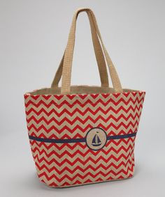 Woven from jute, this savvy shopper is a stylish alternative to basic grocery bags. A pocket inside provides a separate space for special essentials, while the nautical print adds an extra trendy touch.18'' W x 11'' H x 7.5'' D100% juteImported