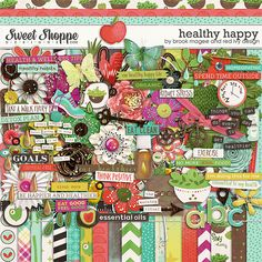 Healthy Happy by Brook Magee and Red Ivy Design. Now on sale at Sweet SHoppe Designs for a very limited time