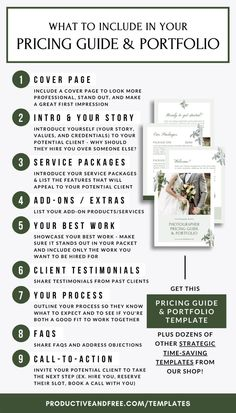CANVA Pricing Guide and Portfolio Template for Photographers and Service-Based Business Owners - business marketing design Business Management, Business Planning, Business Tips, Online Business, Business Design, Creative Business, Photographer Portfolio, Photographer Wedding, Book Portfolio