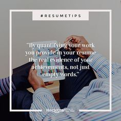 Always quantify your work  Lets face it  numbers sell. #Numbers #statistics #percentages  they always get the attention. Be sure to always answer in your resume quantifiable questions such as: What budget did you managed?; How many subscribers did your campaign gained?; How much revenue did you brought? and so on.  By quantifying your #work you provide in your #resume the real evidence of your achievements not just empty words.  Heres what Im talking about:  Weak: Managed a large #team of…