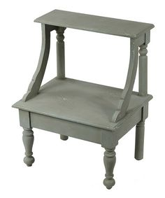 Look what I found on #zulily! Green Aged Accent Stool #zulilyfinds