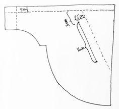Tegning av markering av lomme
