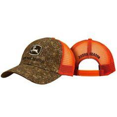 New-John-Deere-Tree-bark-Wood-Front-Red-Mesh-Hat-Cap-Snapback-Deere-Season