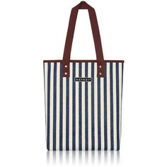 nother Vertical Stripe Tote Bag (Navy)