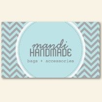 Cute Chevron Stripes Professional Business Card business cards by TheSpottedOlive